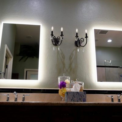 Lighted Mirror for Dual Vanity