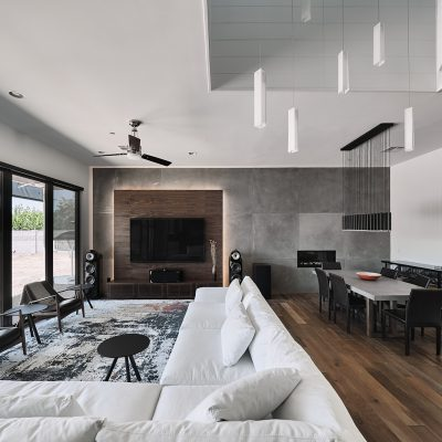Open Concept living and dining area of home remodel in Phoenix