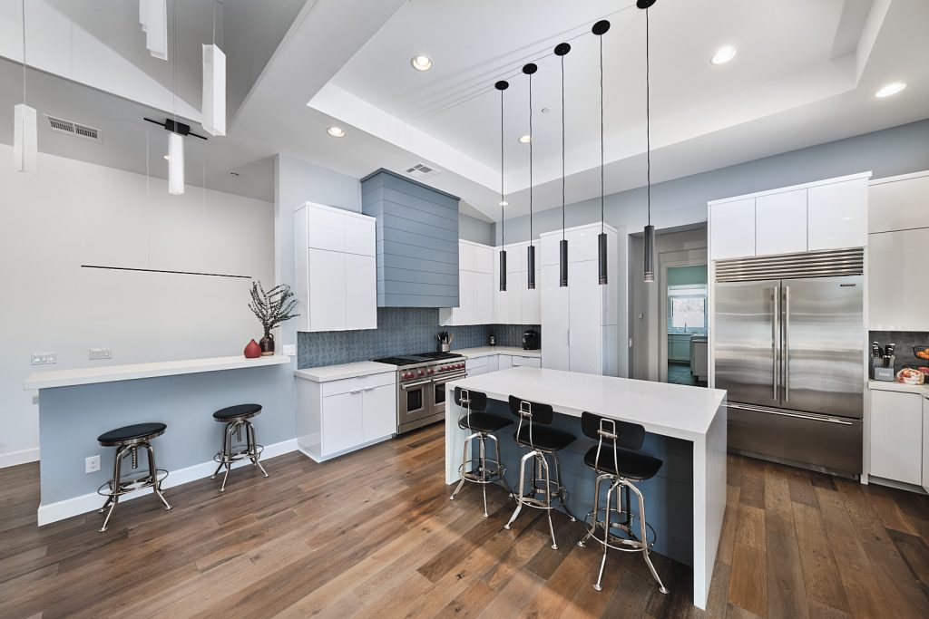 Eat in kitchen design for this home remodel in Paradise Valley