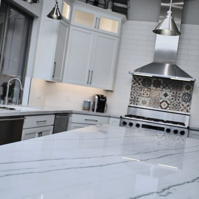 Luxury marble island kitchen remodel in Phoenix