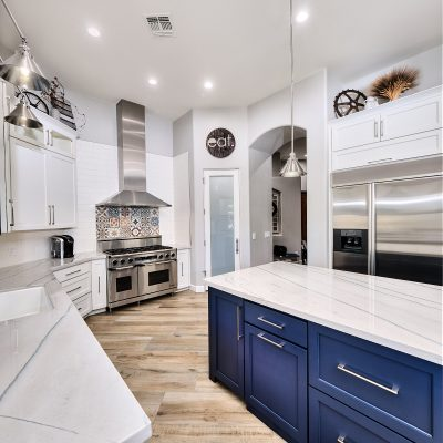 Marble counters and large island kitchen remodel Paradise Valley