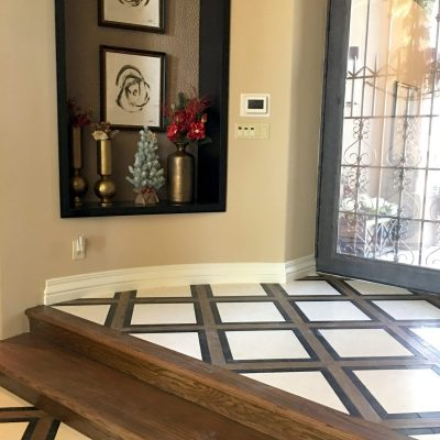 Tiled entryway Paradise Valley Remodel