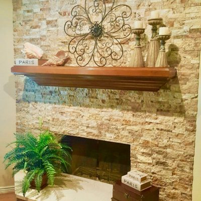 Refaced Fireplace Scottsdale Remodeling