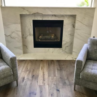 Marble Fireplace Remodel Scottsdale